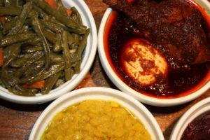 MEAT - VEGGIE COMBO የሥጋ / የጾም በያይነቱ YeSiGa - YeTSom BeYaYnetu @ Benyam Ethiopian Cuisine